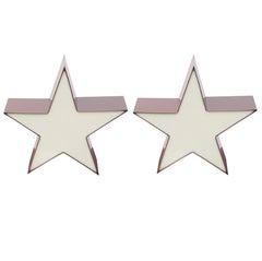 Pair of Star Shaped Resin Sconces