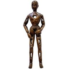 Rare Oak Wood Artist's Articulated Mannequin.