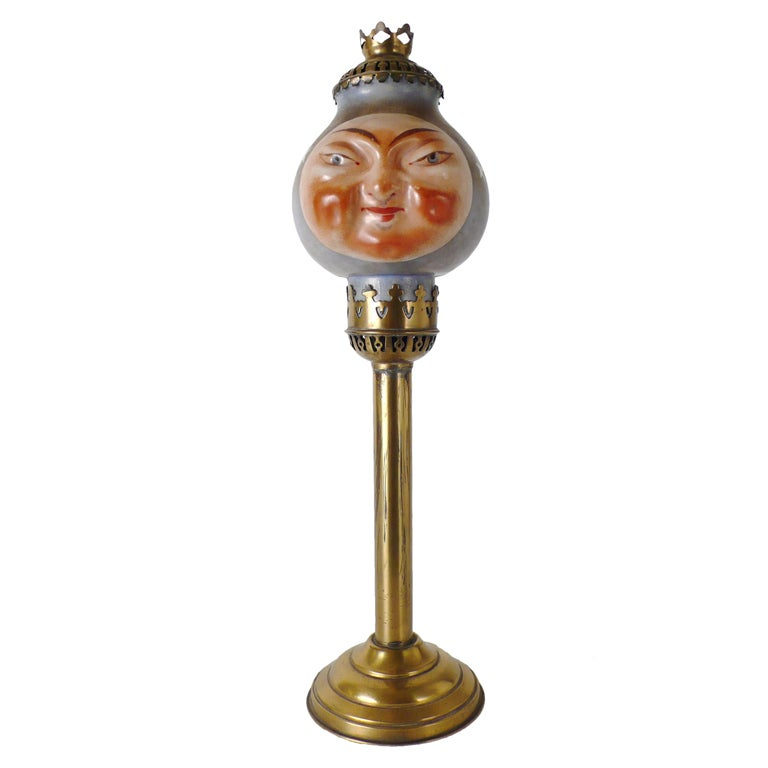 Rare Opaline Candle Holder Depicting The Sun And The Moon at 1stdibs