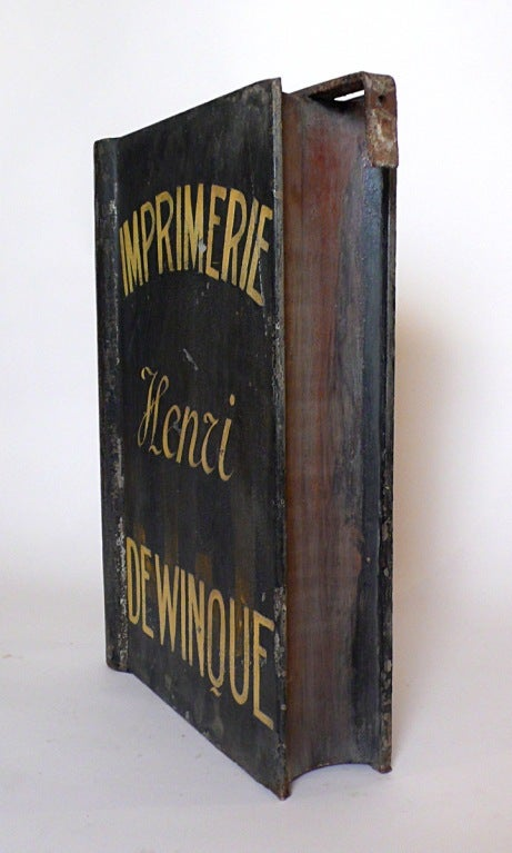 A Painted Tin Tipography Trade Sign Depicting A Book. image 2