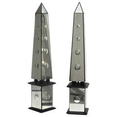 Pair of Grand Tour Obelisks