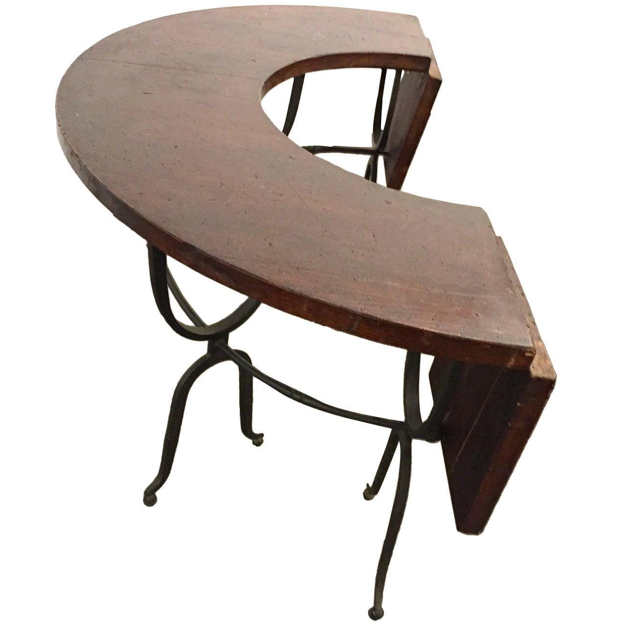 Genova Coffee Table: Unusual Semi-Circle Hunt Table For Wine Testing At 1stdibs