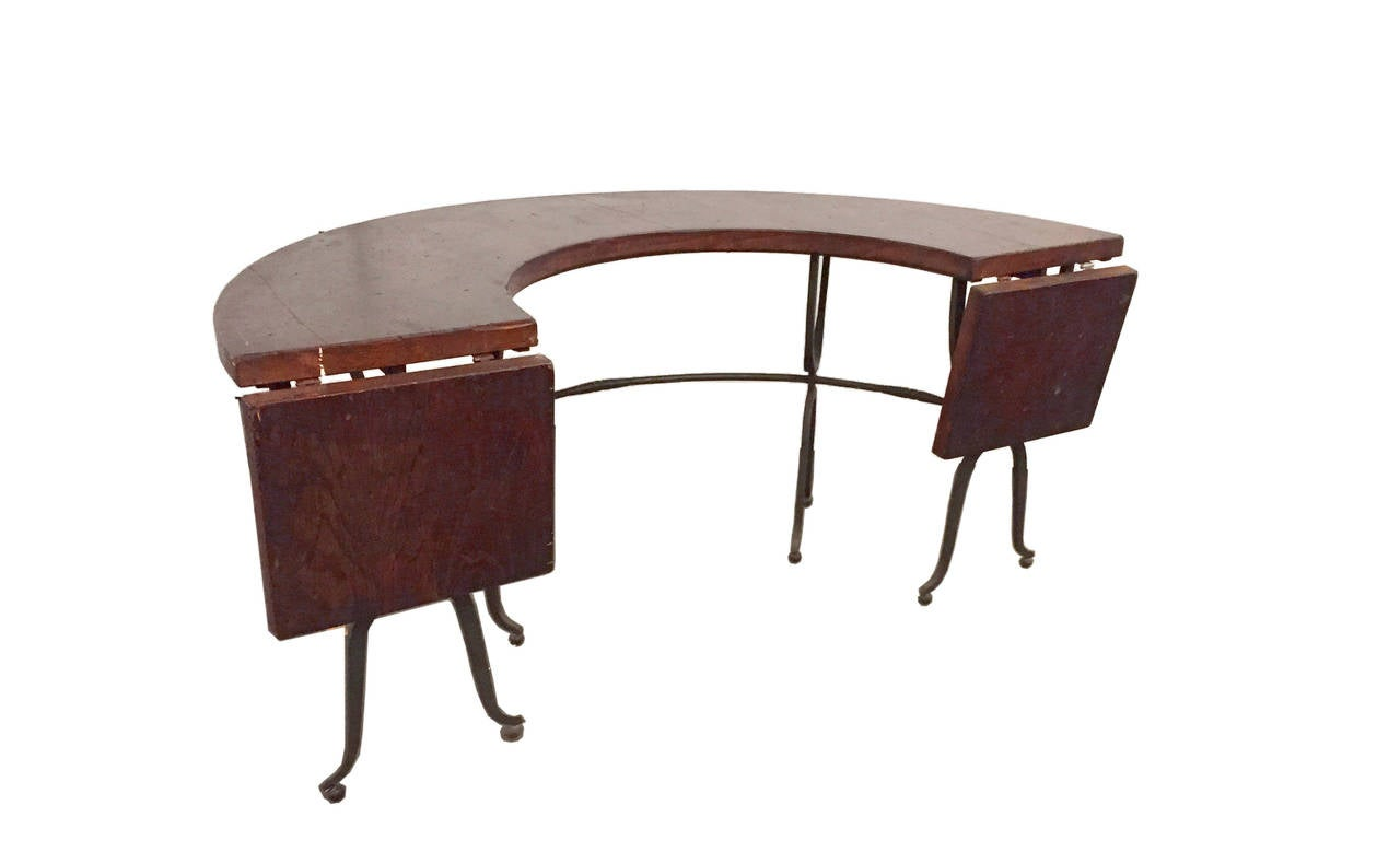 Unusual Semi Circle Hunt Table For Wine Testing For Sale