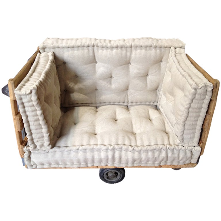 Anfibio Bed By Alessandro Becchi For Giovannetti This Little Sofa Made Reusing A Coal Mine Cart With Sideboards is no ...