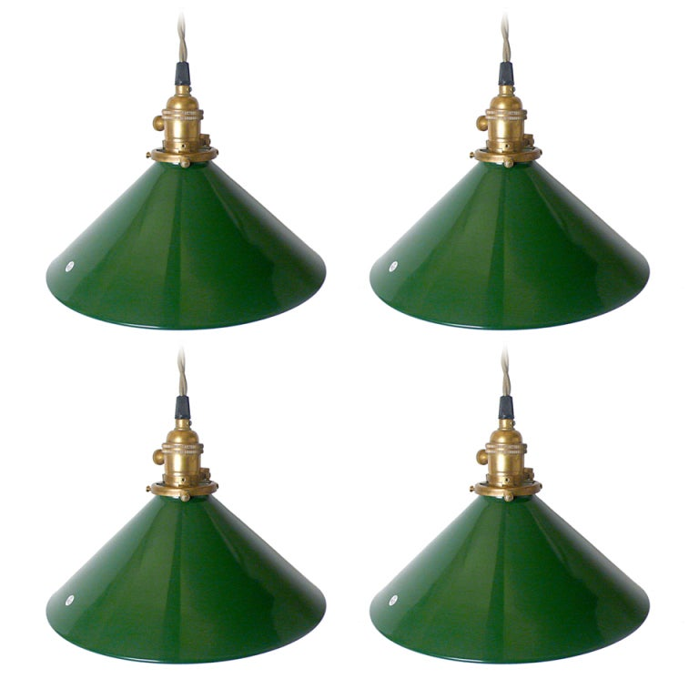 Unusual Industrial Swinging Lights At 1stdibs