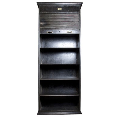 Iron Shelf Cabinet With Sheet Metal Rolling Shutter At