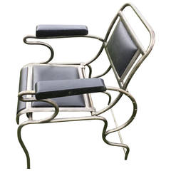Iron and Stainless Steel Dentist Armchair.