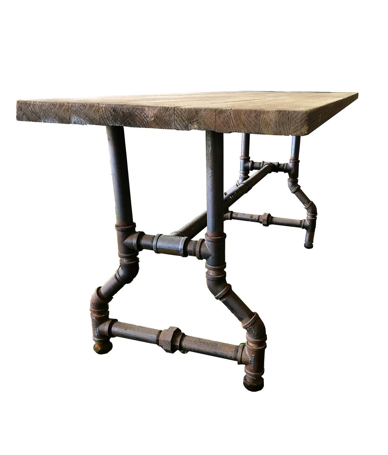 Industrial Dining Room Table unusual rectangular industrial dining table. for sale at 1stdibs