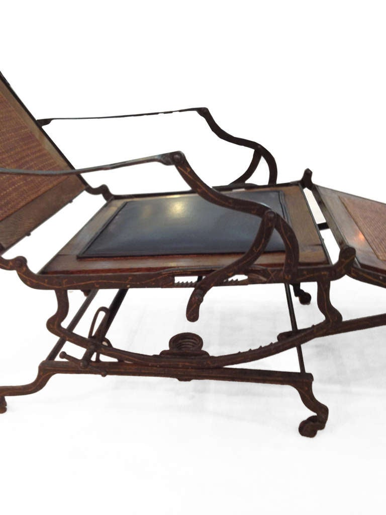 Folded cruiseship rocking chaise longue for sale at 1stdibs for Chaise x rocker