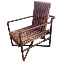 Unusual Armchair Made out of Two Old Heaters