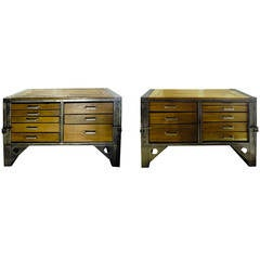 Two Industrial Chests of Drawers