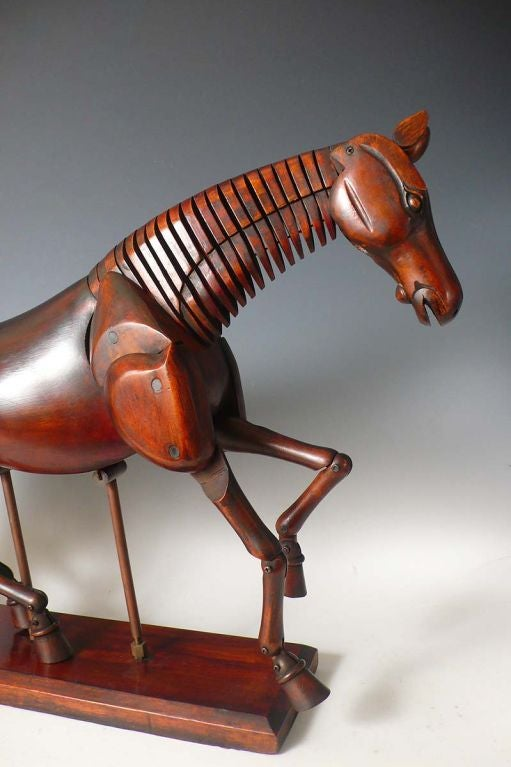 A beautiful French painter's horse dummy ,fully articulated In Excellent Condition In Milan, IT