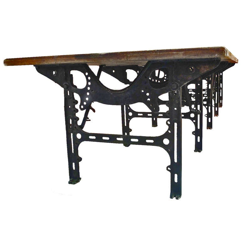 49 Coffee Table Nickel Finish Solid Iron Casters: Huge Industrial Table. For Sale At 1stdibs