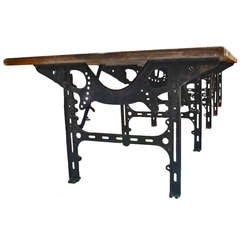 Huge industrial table.