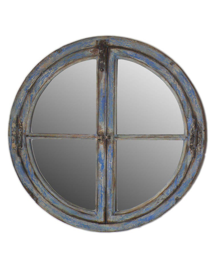 A pair of big round frame mirrors for sale at 1stdibs for Large round mirrors for sale