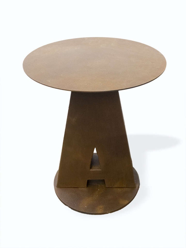 Five unusual round outdoor bistro tables at 1stdibs for Unusual round tables