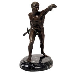Neoclassical Grand Tour Bronze of the Borghese Gladiator