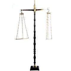A rare Italian oversize scale.