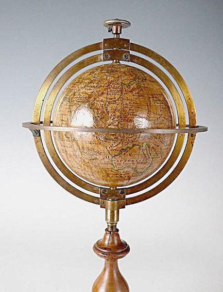 Rare Miniature Delamarche Terrestrial Globe In Excellent Condition For Sale In Milan, IT