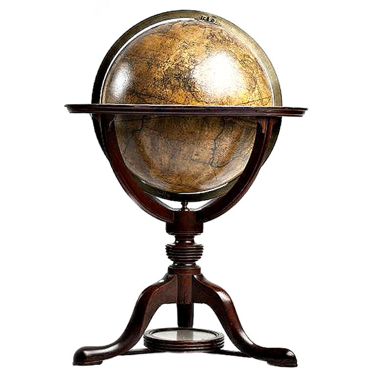 An important English terrestrial globe, signed Cary, London.