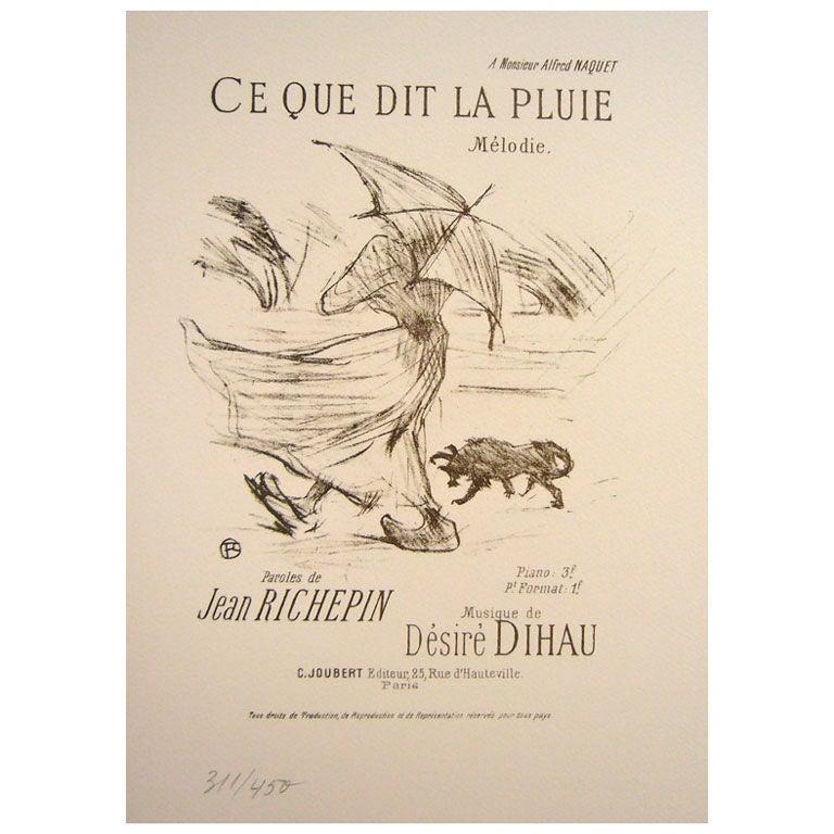 Ce Que Dit La Pluie Toulouse Lautrec At 1stdibs
