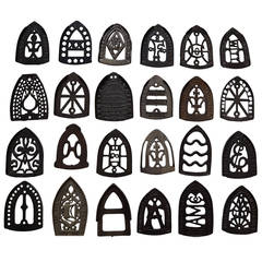 Collection of Sad Iron Trivets