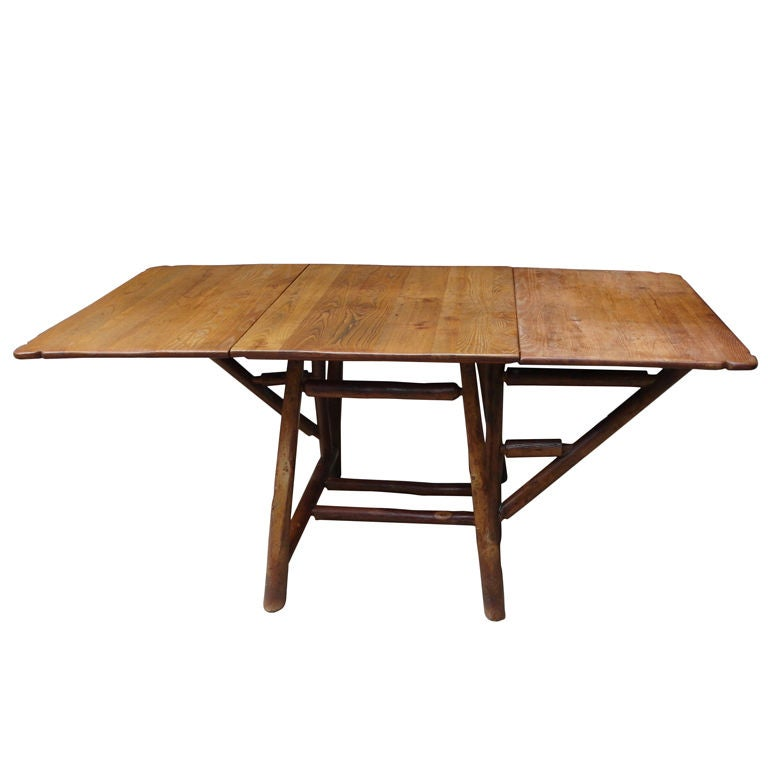 Blue View dining room drop leaf table plan continue
