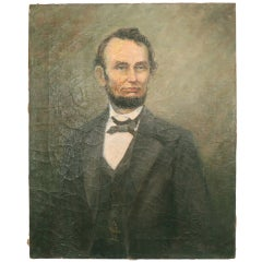Folk Art Painting of Lincoln