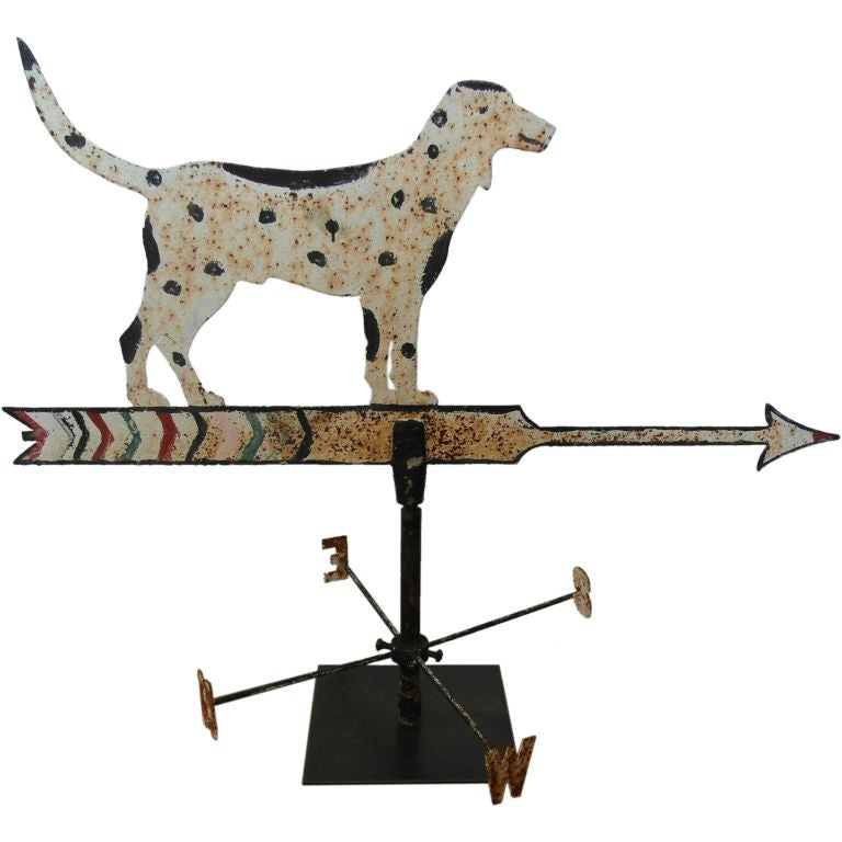 Vintage Wooden Weathervanes: Folk Art Dog Weathervane At 1stdibs