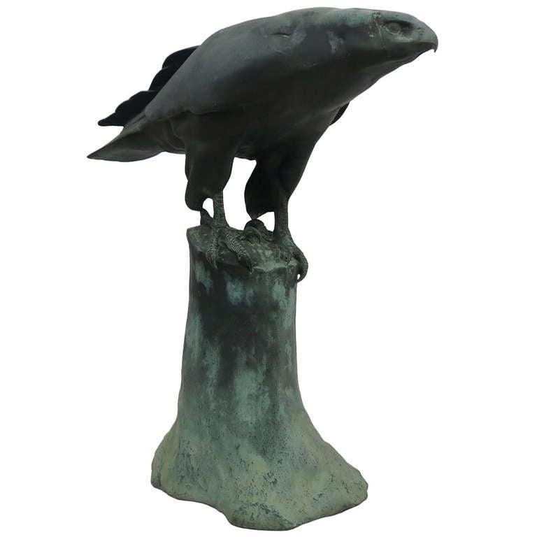Life Size Bronze Hawk At 1stdibs