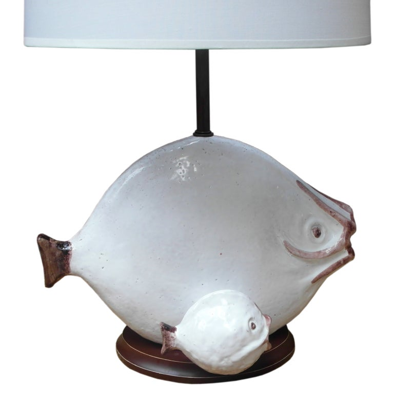 Ceramic Fish Lamp At 1stdibs