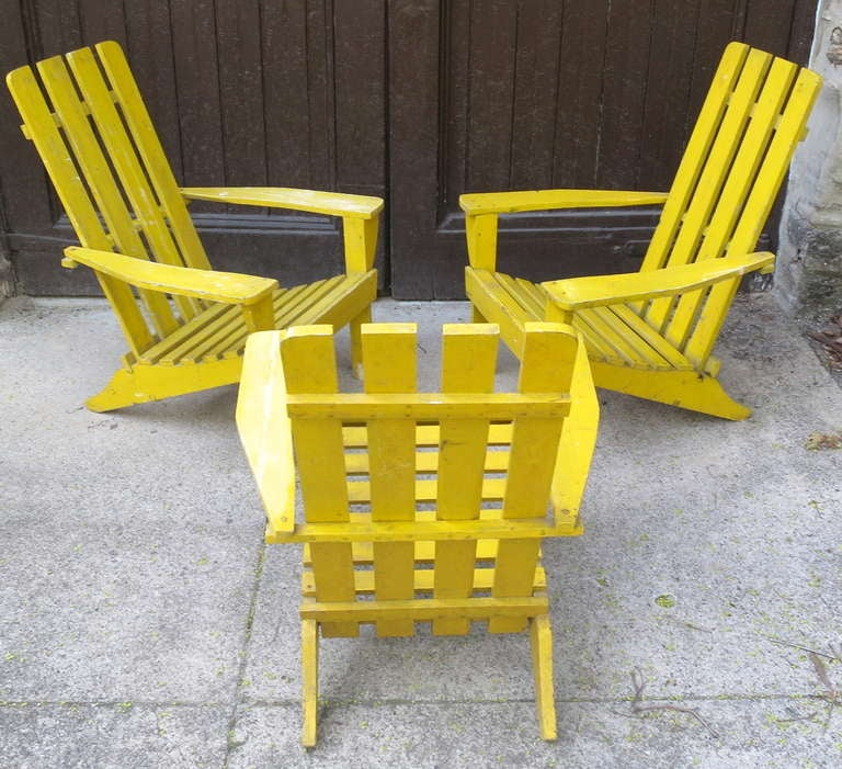 3 Adirondack Chairs at 1stdibs