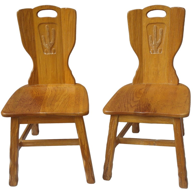 Pair Of Texas Cactus Chairs At 1stdibs
