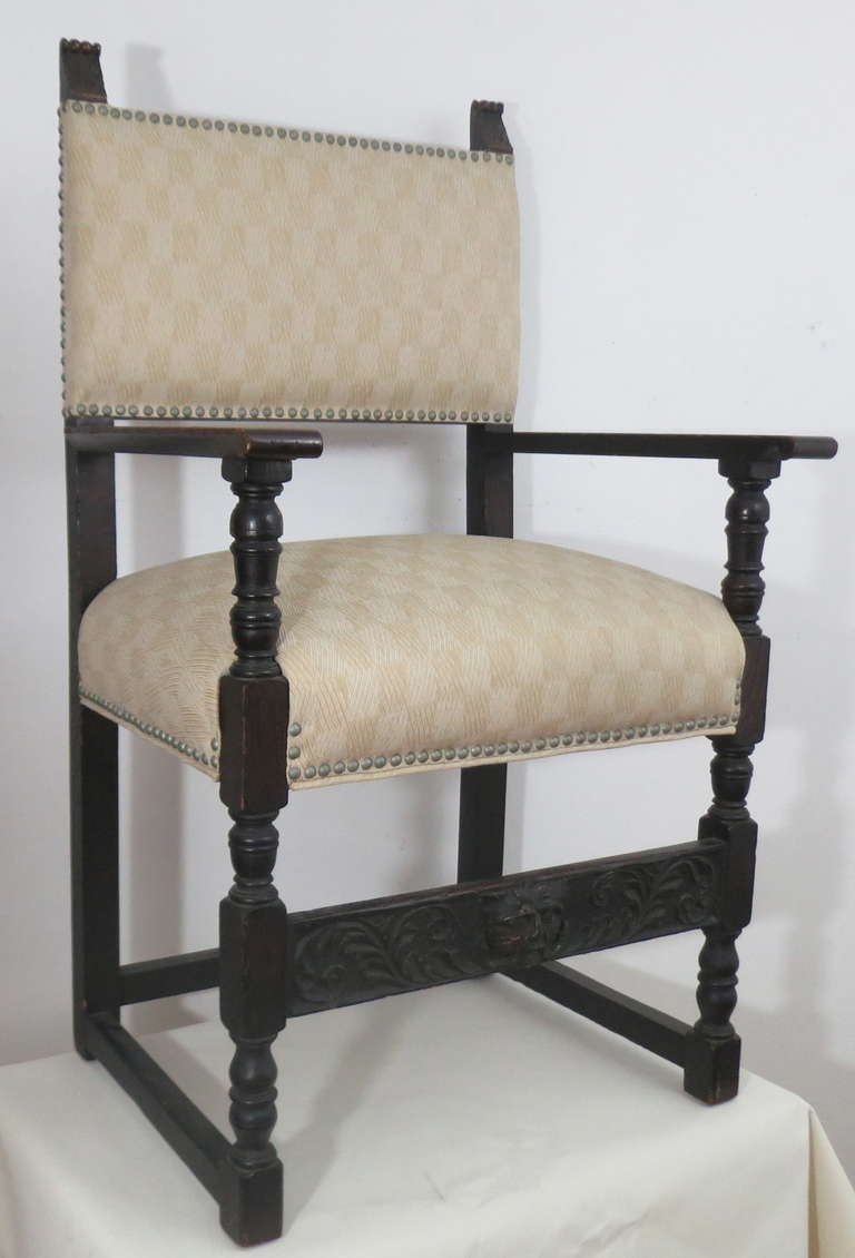 jacobean style upholstered chairs at 1stdibs