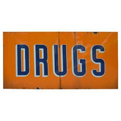Enamel Drugs Sign