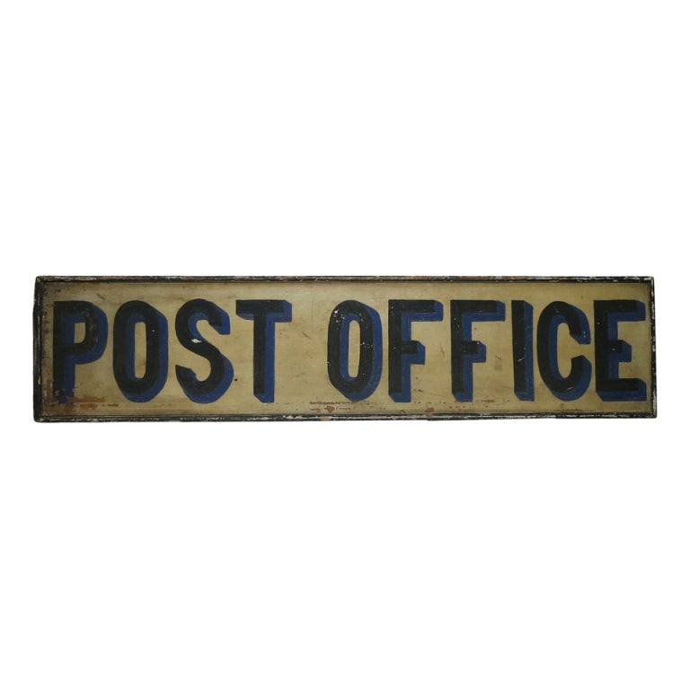 19th C Post Office Sign At 1stdibs
