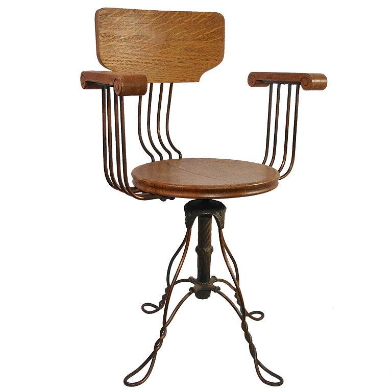 Revolving Drafting Chair At 1stdibs