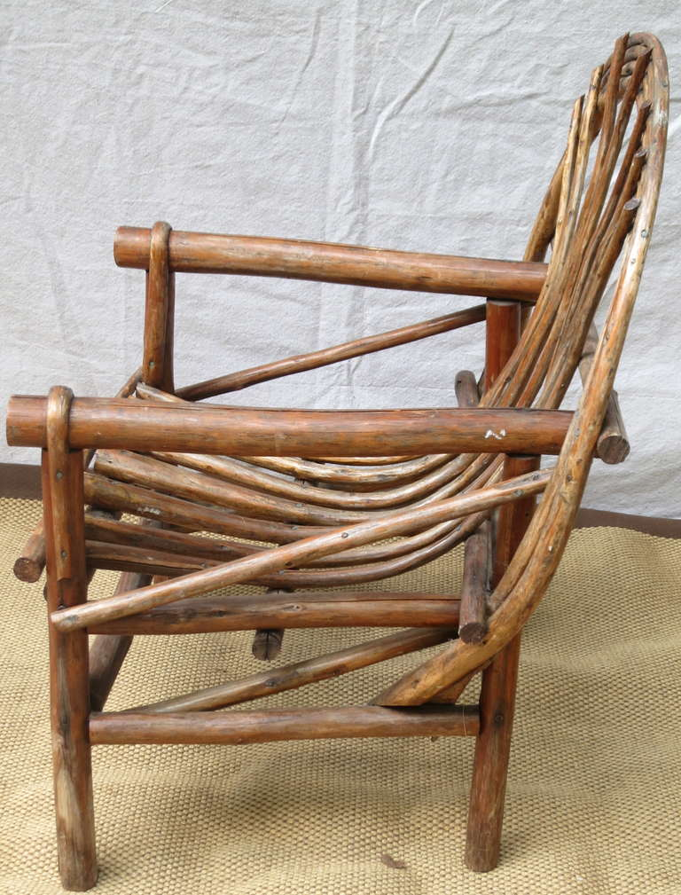 Rustic Bentwood Lounge Chairs at 1stdibs