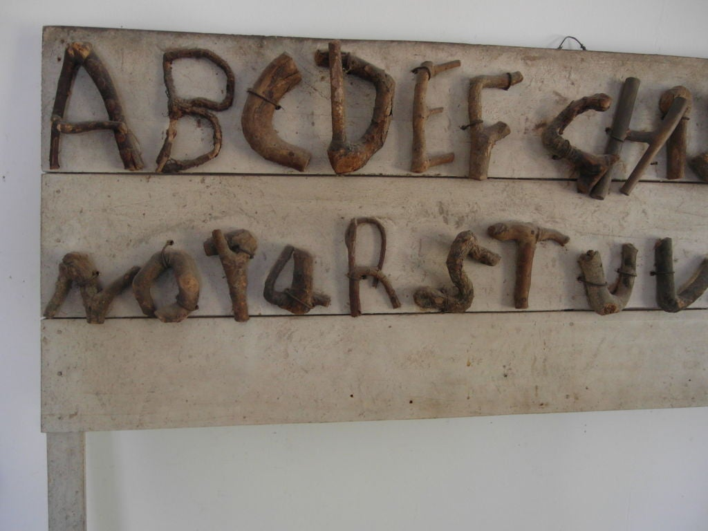 Folk Art Alphabet Board of Trained Branches image 8