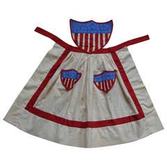Folk Art Centennial Patriotic Apron