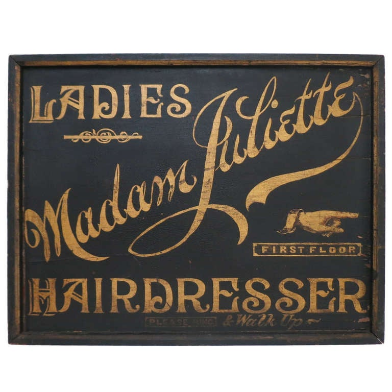 Victorian Hairdresser Sign At 1stdibs