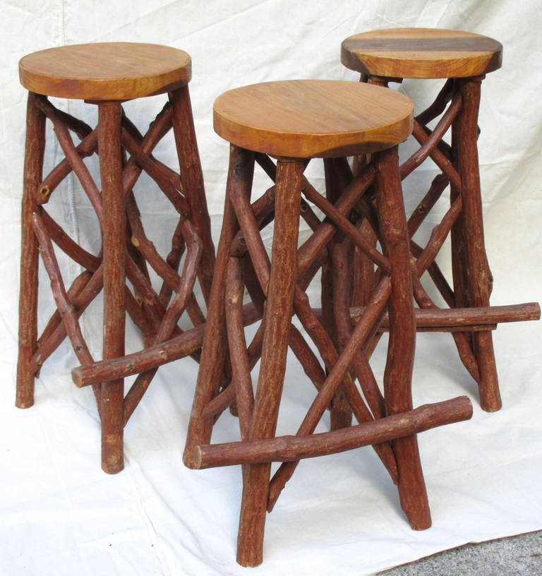 Rustic Bar Stools at 1stdibs : IMG6093l from www.1stdibs.com size 768 x 816 jpeg 81kB