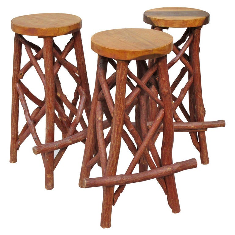 Rustic Bar Stools At 1stdibs