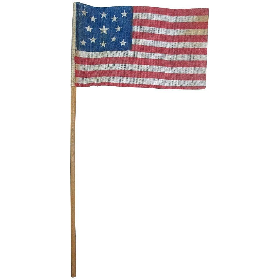 13 Star Parade Flag In A Medallion Pattern At 1stdibs