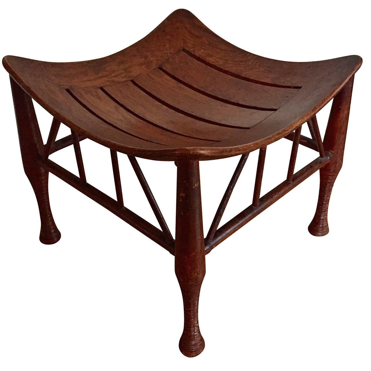 Liberty And Co Oak Thebes Stool At 1stdibs