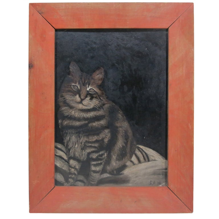 19th C Cat Painting At 1stdibs