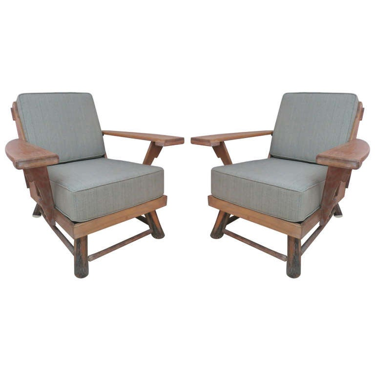Old Hickory Club Chairs At 1stdibs