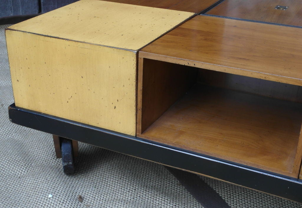 Modular Wood Blocks Coffee Table At 1stdibs
