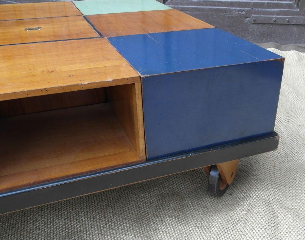 Modular wood blocks coffee table at 1stdibs for Modular coffee table