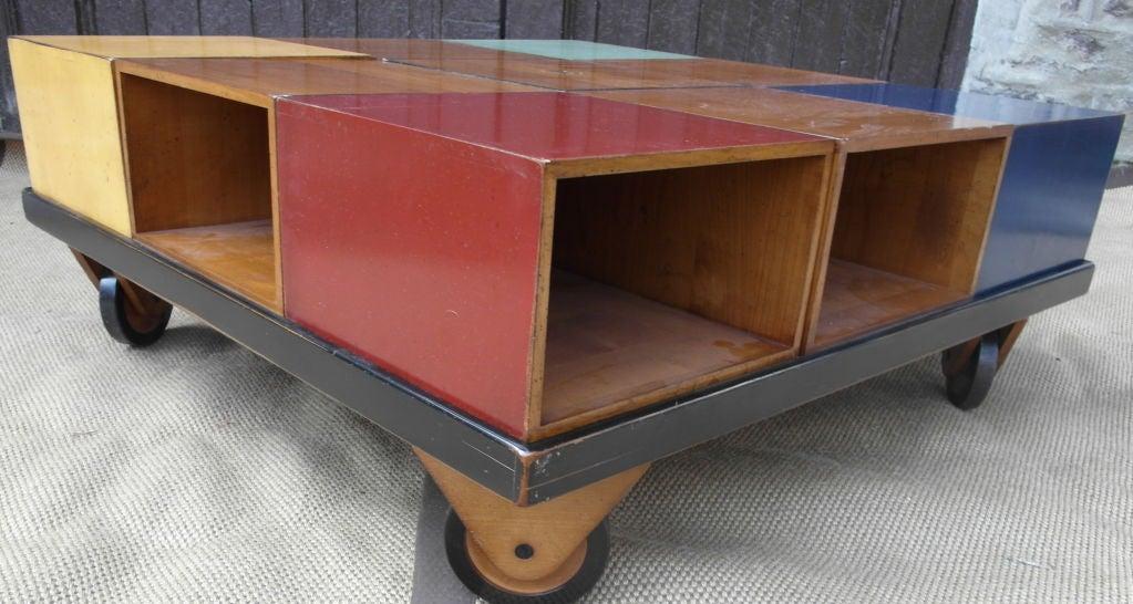Modular Wood Blocks Coffee Table at 1stdibs